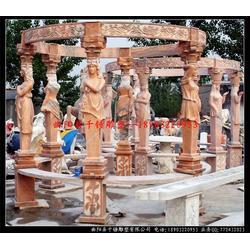 欧式石头亭子、千锤雕塑、欧式石头亭子图片