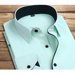 蓝色免烫防皱衬衫定做、广州衬衫定做、佳增服饰(查看)图片