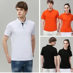 凤台t恤衫厂家、多年定制经验、定做翻领短袖t恤衫厂家图片