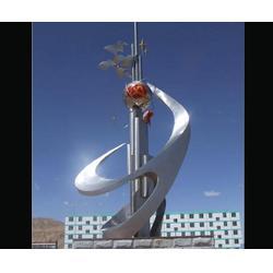 鹤岗不锈钢艺术雕塑_济南京文雕塑质量保证(图)图片