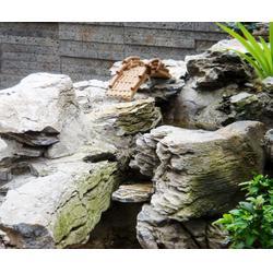 济南京文雕塑诚信可靠-陕西假山水喷泉景观雕塑图片