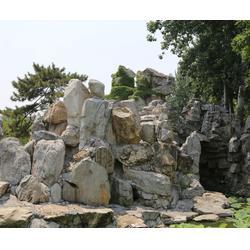 济南京文雕塑诚信可靠-周口假山水喷泉景观雕塑图片