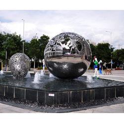 戶外不銹鋼雕塑定做-濟南京文雕塑-廣西戶外不銹鋼雕塑圖片