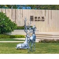 吉林不锈钢雕塑定制-济南京文雕塑金牌厂家-小品不锈钢雕塑定制图片
