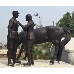 抽象鑄銅雕塑多少錢-濟南京文雕塑圖片