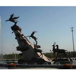 唐山鑄銅雕塑-濟南京文雕塑實力商家-鑄銅雕塑工藝品圖片