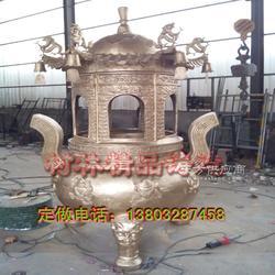 铸铁古宫宝鼎制作厂家,寺庙两层古宫宝鼎铸造铸铜 焚经炉图片