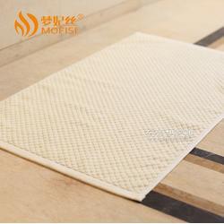 星级宾馆酒店全棉提花地巾 柔软纯棉吸水防滑垫 外贸出口日本台湾图片