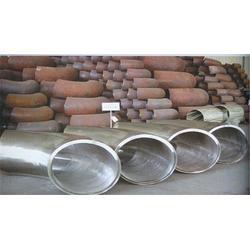 渤洋耐磨(图)_Q235大口径对焊弯头厂商零利_商丘弯头图片