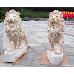 狮子石像雕刻厂_鄂州狮子石像_展艺雕塑图片