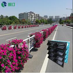 朗汀护栏绿化花盆 道路隔离栏花盆厂家 花盆优惠促销图片