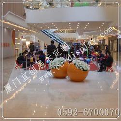 商场酒店园林景观花缸花盆 半圆斜口绿植花盆花缸花盆生产厂家图片
