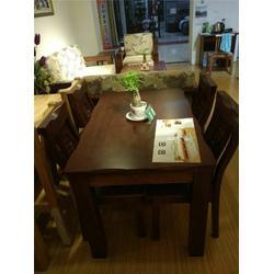 辽宁橡胶木餐桌椅,橡胶木餐桌椅,源林木业图片