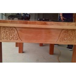 橡胶木餐桌椅、源林木业(在线咨询)、定制定做橡胶木餐桌椅图片