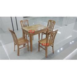 橡胶木餐桌椅直销,河南橡胶木餐桌椅,源林餐桌餐椅质高价低图片