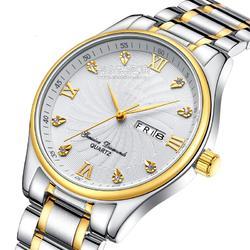 厂家现货间金男士手表名匠精钢手表日历显示快至15天出货图片