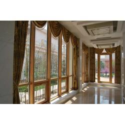 沈阳宏家豪门窗、盘锦铝包木门窗、铝包木门窗型号图片