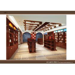 红酒展厅装修设计效果图,红酒展柜定制厂家,木纹红酒展示柜供应图片