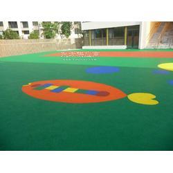 EPDM彩色塑胶地面材料厂家 幼儿园塑胶地面材料厂家图片