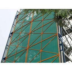 铝板爬架安全网,焊框爬架网,蓝色建筑爬架网图片