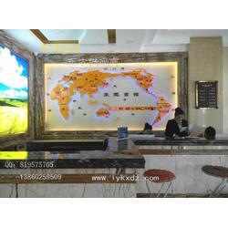 酒店办公装饰用品酒店背景墙装饰大型世界地图钟图片