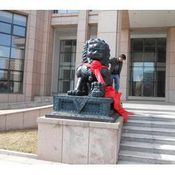铜狮子工艺品_宁夏铜狮子_兴悦铜雕铜狮子铸造厂图片