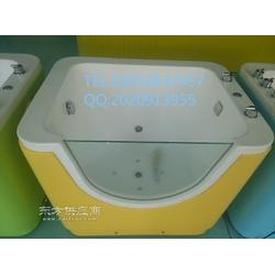 单面水疗彩灯泡泡池亚克力婴儿澡盆婴幼儿游泳池厂家供应图片