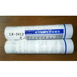 LX-3412耐高温阻燃红色硅胶图片