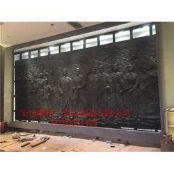 宏达雕塑 大型墙面铜浮雕制作-铜浮雕图片