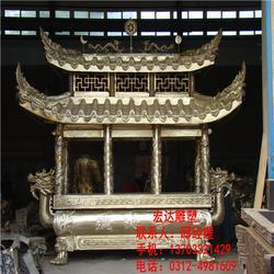 香炉-宏达铸造-询八龙柱长方形香炉图片