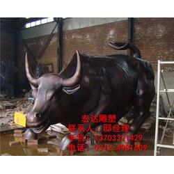 铜牛雕塑加工,铸华尔街铜牛,铜牛雕塑图片