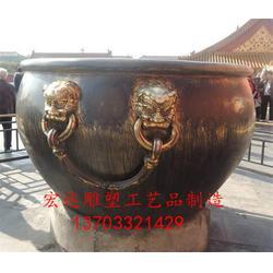 故宫铜大缸制作|铜大缸|仿古铜大缸铸造图片