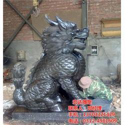 2米铜麒麟多少钱一对|铜麒麟|宏达雕塑图片
