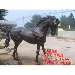 铜马雕塑-铜马雕塑摆件-小区铜马雕塑摆件图片