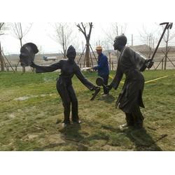 人物雕塑,铸铜小品人物雕塑,街道情景雕塑(多图)图片