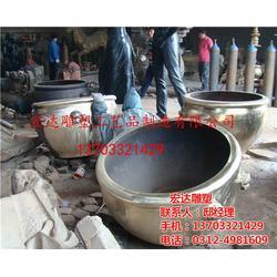 宏达雕塑(多图)、铜大缸制作工艺、广东铜大缸图片
