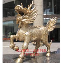 铜麒麟、来图生产、铜麒麟纯铜定制图片