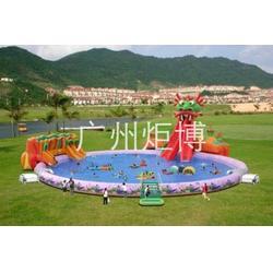 烟台充气水上乐园_广州炬博_水上充气泳池图片