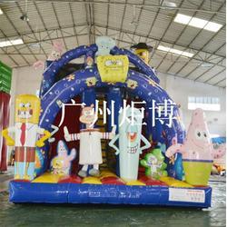 汕头充气滑梯、广州炬博、广场充气滑梯订购图片