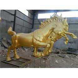 安庆铜大马雕塑、铜雕厂  唐县恒保发、铜大马雕塑供应图片