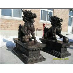 恒保发铸铜动物雕塑,铜麒麟,1米铜麒麟