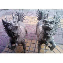 恒保发铸铜动物雕塑(图)_60公分铜麒麟_铜麒麟图片