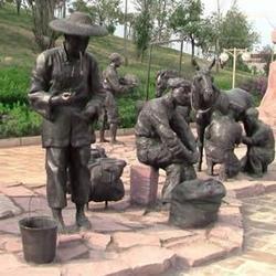 恒保发铜雕厂|内蒙古公园雕塑|景区公园雕塑图片