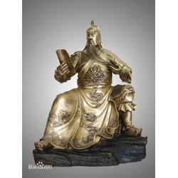 铸铜座关公像 _武汉座关公_恒保发铜雕工艺品厂(查看)图片