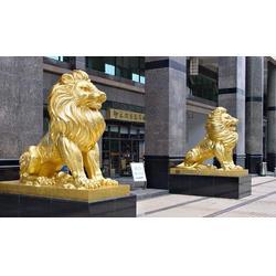门口铜狮子,门口铜狮子2米,恒保发铜雕厂(多图)图片