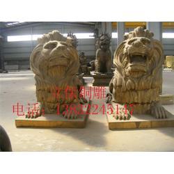 聊城黄铜汇丰狮子铜雕,河北恒保发铜雕,大型黄铜汇丰狮子铜雕图片