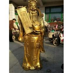 恒保发铜雕厂,天津骑虎财神,铜骑虎财神图片