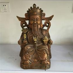 上海骑虎财神,恒保发铜雕厂家(优质商家),纯铜骑虎财神图片