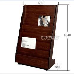 房地产专用木质报刊架杂志架资料架带滑轮报纸架图片