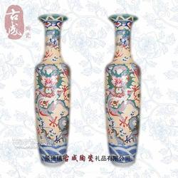 摆件落地大花瓶 瓷器花瓶厂家定制 畅销陶瓷礼品厂家图片